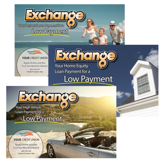 Marketing services Direct Mail Post card example for credit unions