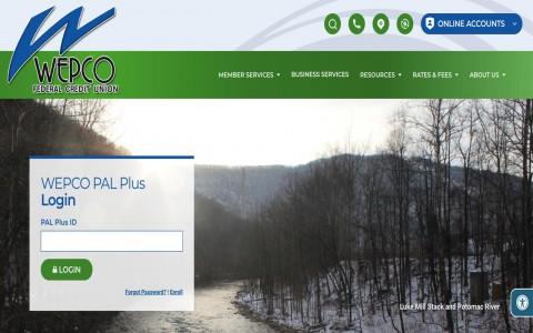 WEPCO FCU website homepage